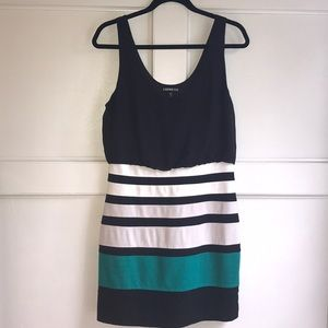Express Black/Multi Fitted Dress